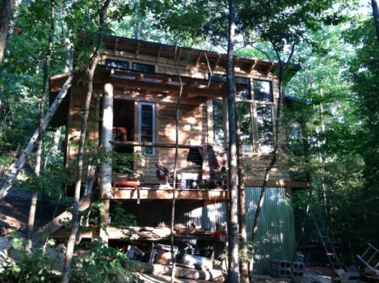 Floor Plan for Sheltowee Traveler ~ Wilderness cabin with amenities inside the Red River Gorge